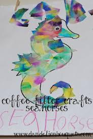 coffee filter crafts seahorses dandelion bouquets
