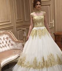 white wedding dress with gold beading gold wedding dresses popular ivory gold wedding dresses