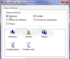 afficher bureau windows 7 ajouter ou retirer des icônes système du bureau windows 7