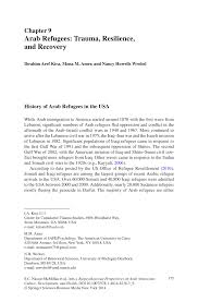 arab refugees trauma resilience and recovery pdf download