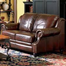 Coaster Leather Sofa Coaster Princeton Collection Traditional Tri Tone Burgundy Leather