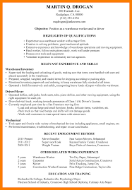 6 warehouse job resume park attendant