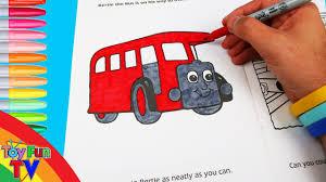 thomas friends coloring book colour bertie bus thomas