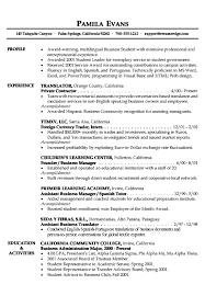 sample resume student example information technology graduate