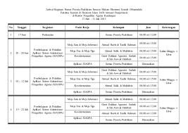tips membuat jadwal kegiatan harian jadwal kegiatan harian peserta praktikum di pengadilan agama kandangan