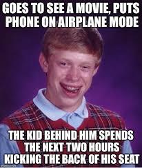 Kid On Phone Meme - goes to see a movie puts phone on airplane mode the kid behind him