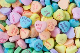 heart candy sayings sweethearts why d you eat that