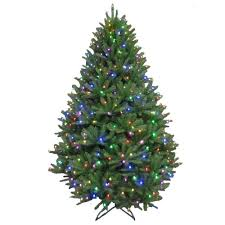 artificial christmas tree with lights tis your season 7 5 ft pre lit led california cedar artificial