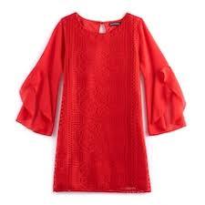 girls kids 3 4 sleeve dresses clothing kohl u0027s