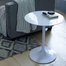 white pedestal side table modernist pedestal side table