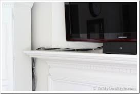 how to hide the cords on a flat screen tv in my own style