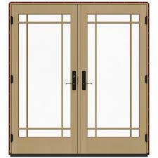 9 Patio Door Jeld Wen 72 In X 80 In W 4500 Clad Wood Right 9 Lite