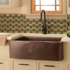 Copper Kitchen Backsplash by Farmhouse 33 Copper Apront Front Kitchen Sink Native Trails
