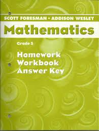 mathematics grade 5 homework workbook answer key scott foresman