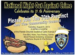flyers for national night out invitation flyer www gooflyers com