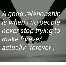 Good Relationship Memes - a good relationship is when two people never stop trying to make