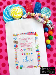 personalized party favor bags personalized candy bags candy sprinkle favor bags candy favor