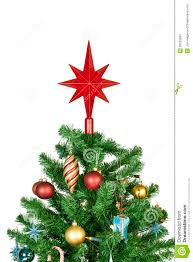 tree top with ornaments stock image image 26533581