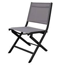 chaise de pliante chaise pliante kettler lille aluminium textilène anthracite taupe