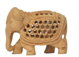 handcrafted showpiece wooden elephant home décor