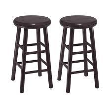 amazon com winsome wood 24 inch swivel bar stools dark espresso