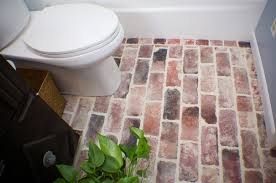 How To Clean A Brick Floor Inside by An Affordable Way Brick Veneer Flooring Loccie Better Homes