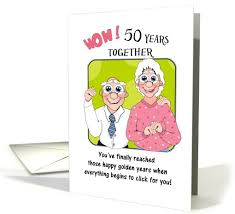50th wedding anniversary greetings humorus 50th wedding anniversary card 675225