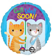 get well soon and balloons get well soon kittens balloons wholesale balloons helium rental