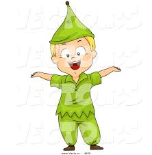vector of a halloween cartoon boy wearing a dwarf costume by bnp