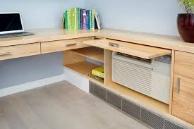 Custom Desks For Home Office Custom Built In Desk Modern Home Office New York By