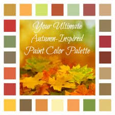 palette inspired in the colors of autumn palette design colors