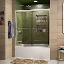 glass tub shower doors frameless waagee 60