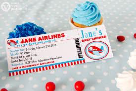 airplane baby shower diy printable invitation card airplane baby shower