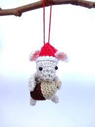 mouse crochet ornament