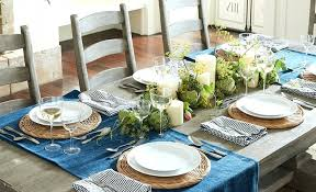pottery barn christmas table decorations 5 ways to decorate a table with a runner pottery barn table runner