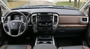 nissan titan interior 2017 2017 nissan titan platinum reserve 4x4 test drive review