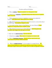 evolution and darwin worksheet with answers 6 what did darwin