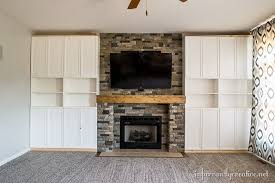 Fireplace With Built In Cabinets Family Room Makeover Part 4 Airstone Fireplace Makeover