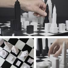 Futuristic Chess Set Extraordinary Chess Set Features Iconic New York City Buildings