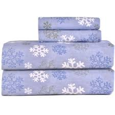 pointehaven snow flake flannel sheet set free shipping on orders