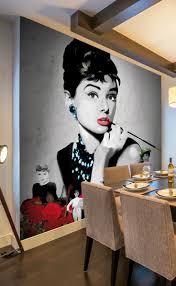 audrey hepburn wall mural home design audrey black wall mural