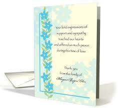 thank you card exle sympathy card thank you messages thank you