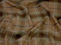 Upholstery Materials Uk 100 Wool Tartan Plaid Sage Oatmeal Fabric Curtain Upholstery