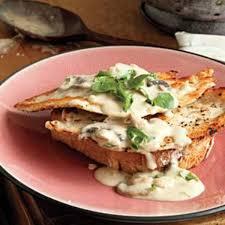turkey and mushroom gravy recipe open face chicken or turkey sandwiches with creamy mushroom