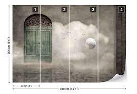 old doors wall cobblestone walk birds photo wallpaper wall mural old doors wall cobblestone walk birds photo wallpaper