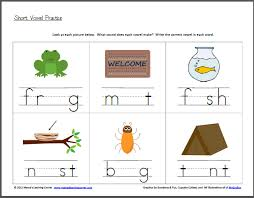 kindergarten vowel worksheets free worksheets library download