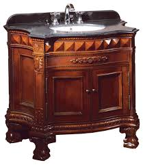 Buckingham Vanity Dark Cherry With Black Granite Top - Black bathroom vanity and sink