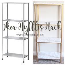 ikiea gold and marble ikea hyllis hack blonde boss