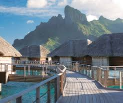 luxury collection overwater bungalow honeymoon in bora bora