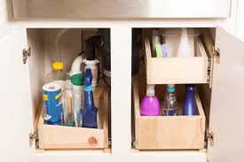 kitchen sink cabinet storage ideas diy sink pull out storage idea black decker